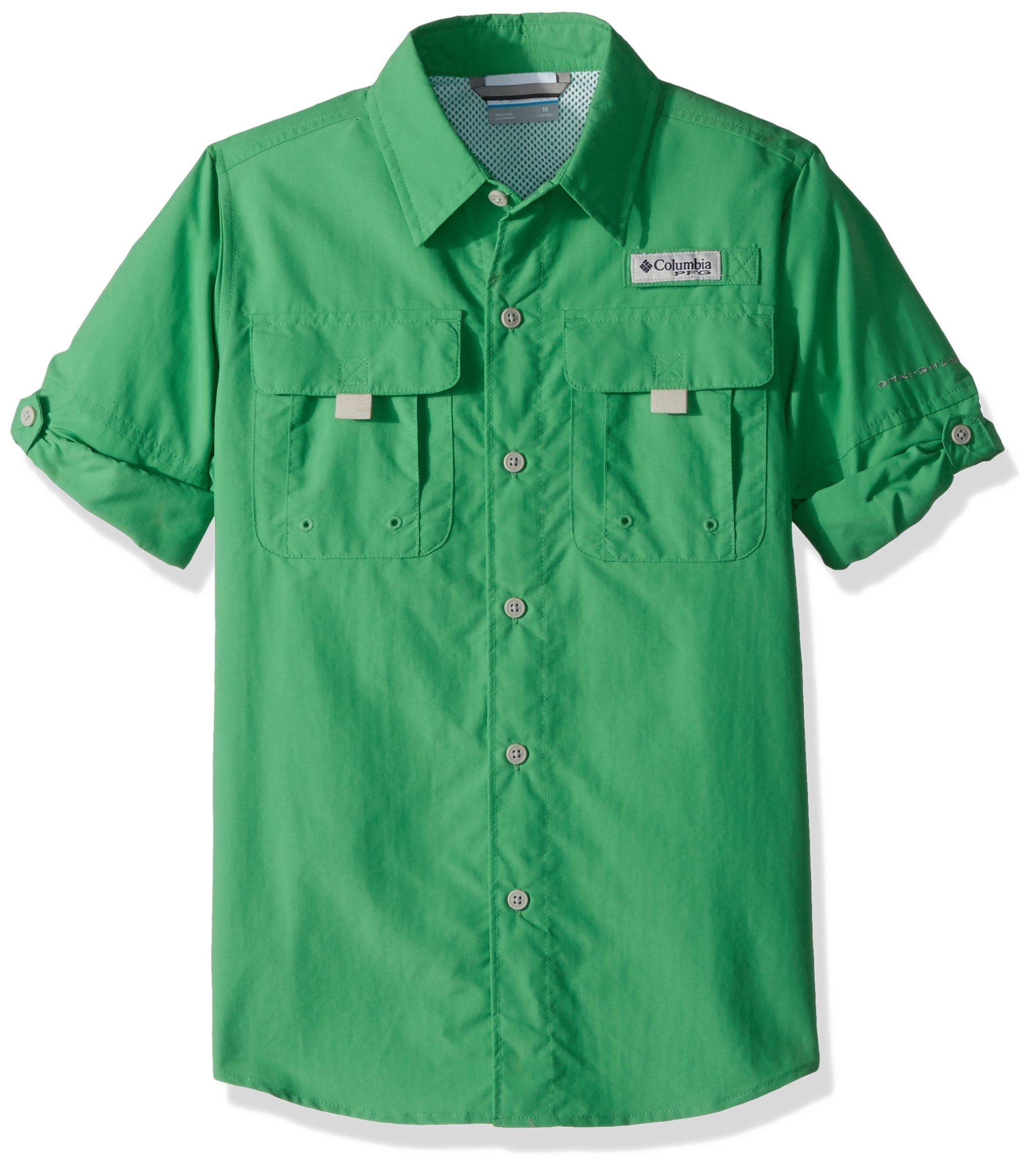 Columbia Boys Bahama Long Sleeve Shirt, Emerald City, Large
