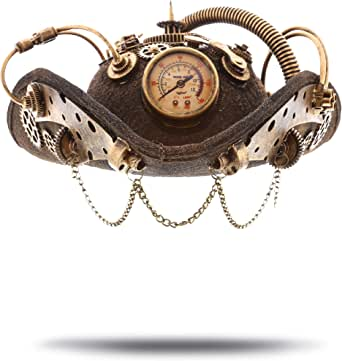 Victorian Design Steampunk Top Hat Gear Chain Clock Time Travel Costume Party