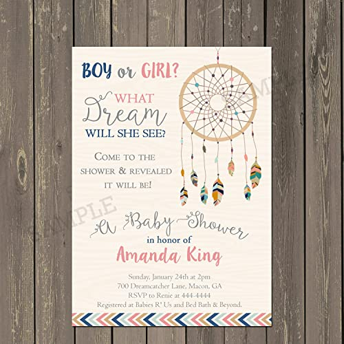 Amazon Com Dream Catcher Baby Shower Invitation Gender