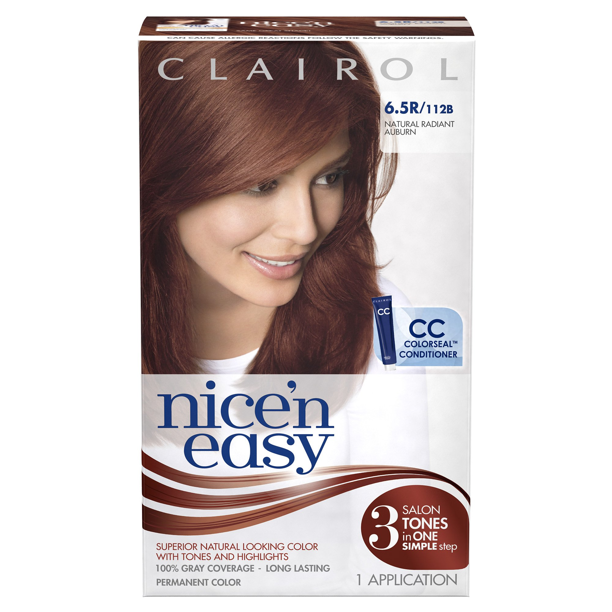 Clairol Nice 'N Easy Hair Color 112 B Natural Radiant Auburn 1 Kit (Pack of 12)