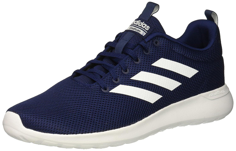Dark bluee White Dark bluee Adidas Mens Lite Racer Clean Running shoes