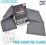 Latex Free Resistance Bands 1.2 & 2 Metre. Exercise Bands for Physical Therapy, Strength Training & Fitness Workouts, Yoga, Pilates, Stretching. Range of Resistance Strengths Available & Exercise Guide Booklet Included
