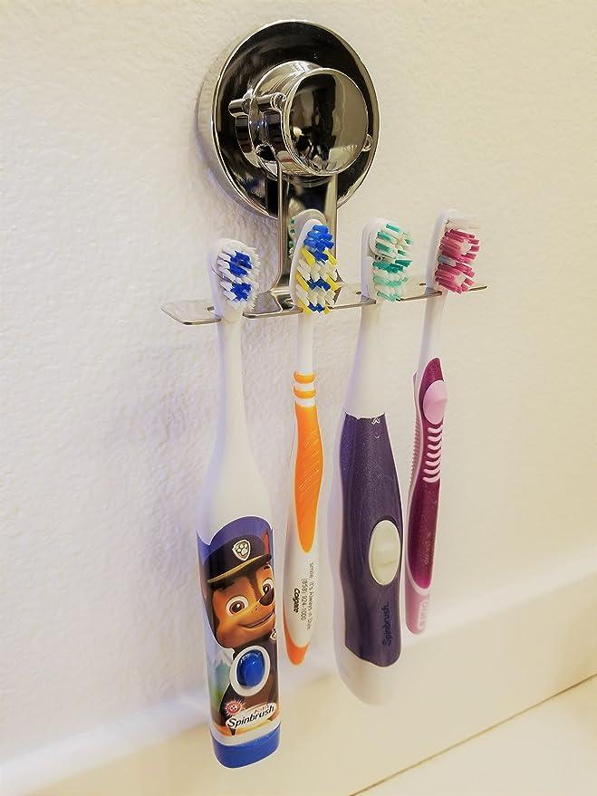 SIMPLE LIFE Cepillo de dientes titular succión cepillo sostenedor de taza, no caída Plata: Amazon.es: Hogar