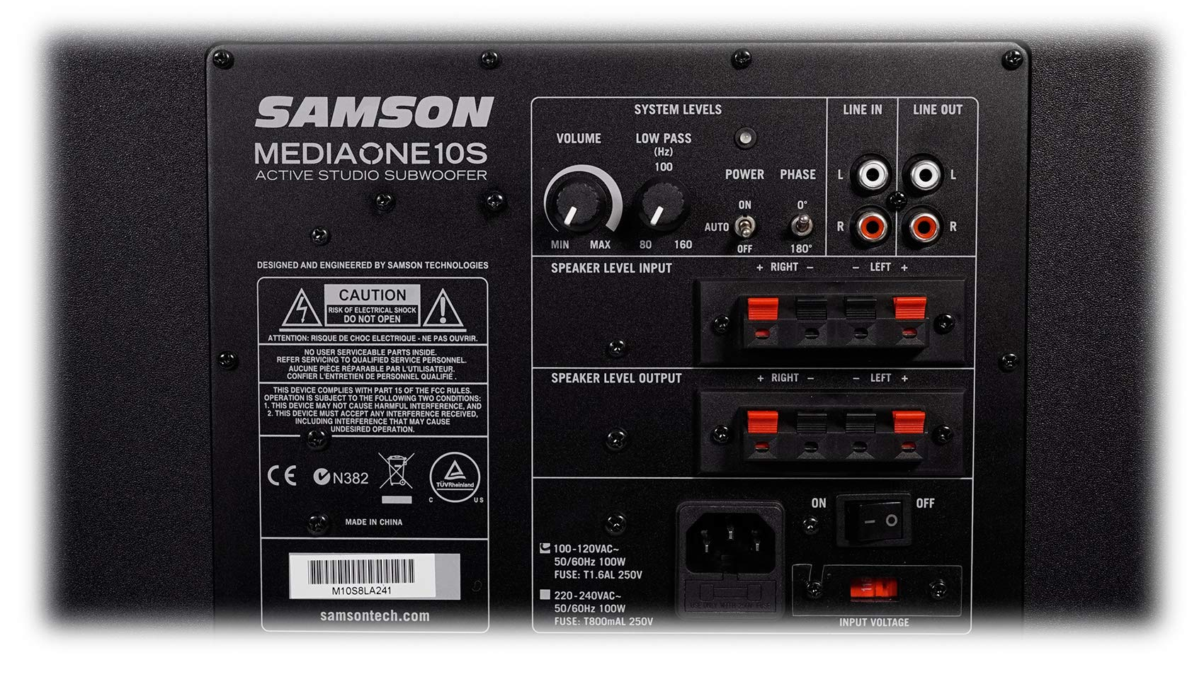 Samson MediaOne 10S 10'' 100 Watt Powered Gaming Twitch Live Stream Subwoofer Sub by Samson Technologies (Image #4)