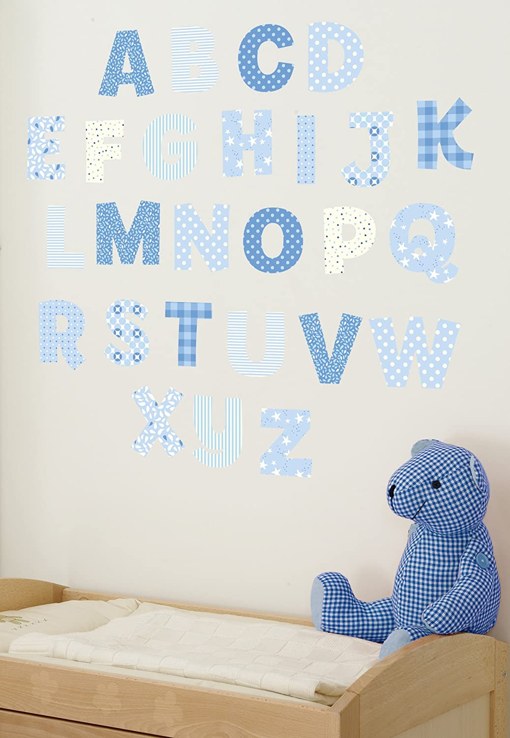 Amazon funtosee upper lowercase alphabet wall decals blue amazon funtosee upper lowercase alphabet wall decals blue baby amipublicfo Image collections