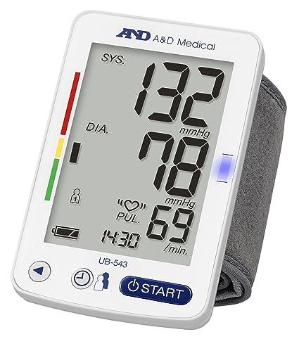 A&D Medical UB-543 Tensiómetro digital de muñeca, validado clínicamente, color Blanco