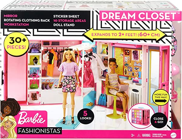 Barbie Dream Closet doll playset for kids in package