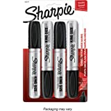 Sharpie 15661PP  King Size Permanent Marker, Chisel Tip, Black, 4-Count