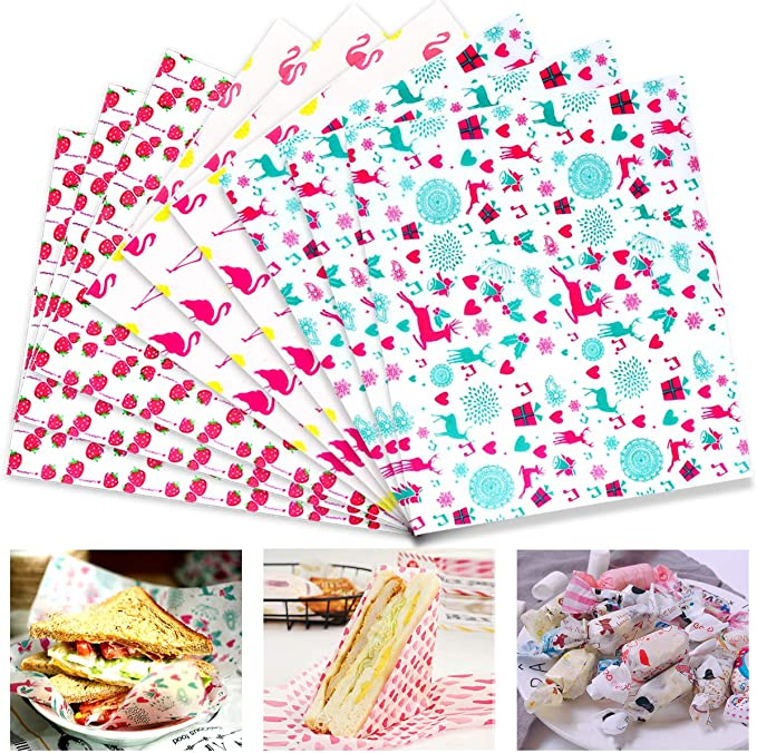 150 Sheets Food Wax Paper, Food Wrapping Paper, Gift Wrapping Paper for Crafting Cheese, Baking Wrapping Paper, Greaseproof WaterproofWax Paper, Cake Wrappers for Family, Bar, Birthday, Christmas: Amazon.co.uk: Kitchen & Home