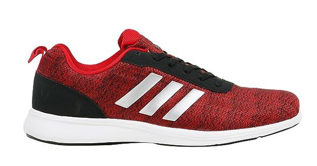 Adidas Uomini Adiray 10 M Rosso Di Scarpe Da Corsa, 8 Uk / India (1 / 9, Unione Europea