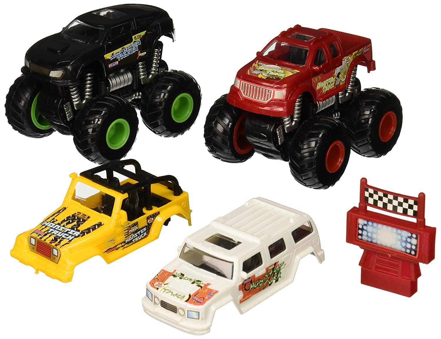amazon com kid connection monster stunt truck play set toys u0026 games