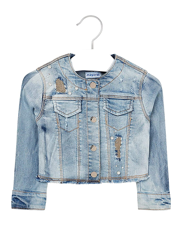 Denim Jacket for Girls Mayoral 3408 Bleached