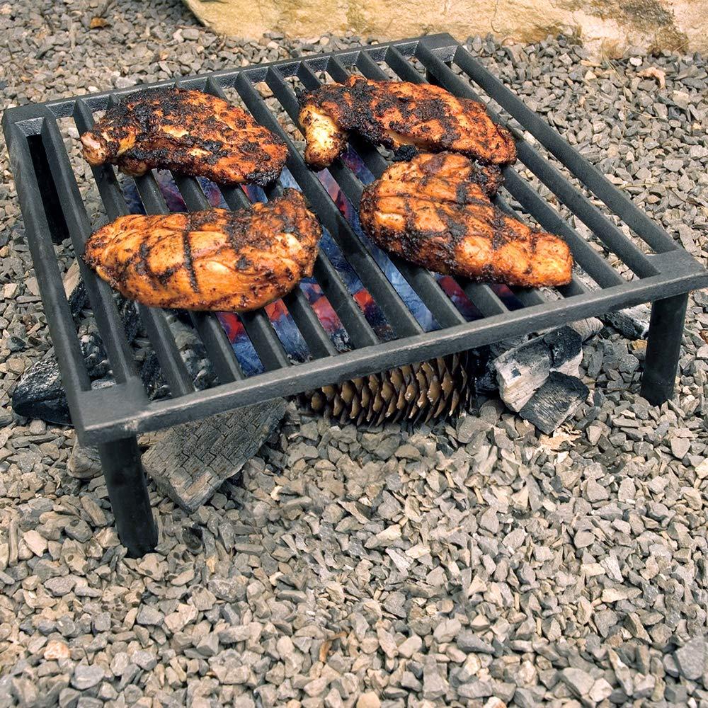 "Steven Raichlen Best of Barbecue x Steven Raichlen SR8024 Best of Barbecue Cast Iron Tuscan BBQ Grill,14"", 14"
