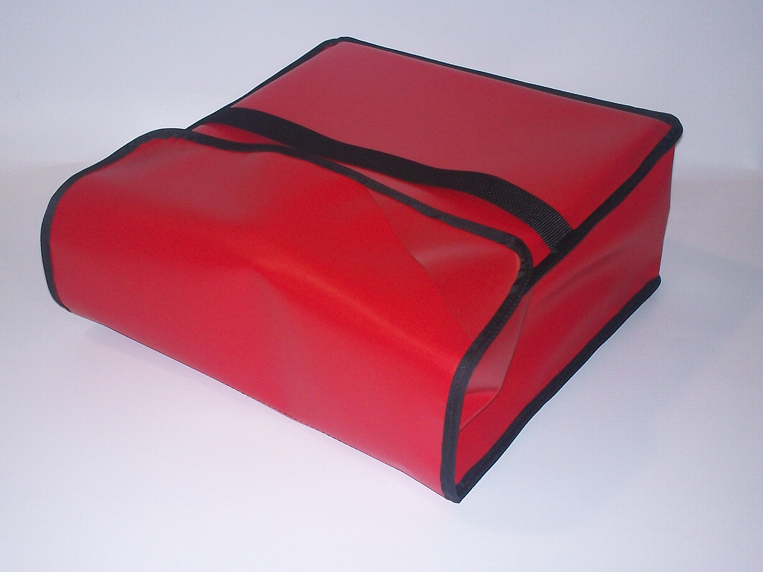 TCB Insulated Bags PK-330-Red Insulated Pizza Delivery Bag, Holds 3 Each 28'' Pizzas, 30'' x 30'' x 7'', Red