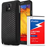 iPosible Note 3 Battery, 7200mAh Extended Li-ion Battery for Samsung Galaxy NOTE 3 III, N9000, N9005 LTE, AT&T N900A, Verizon N900V, Sprint N900P, T-Mobile N900T, with Back Cover and Protective Case