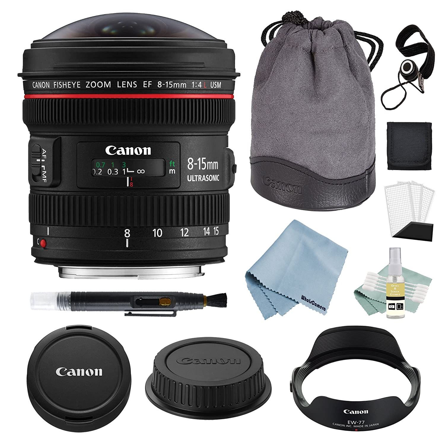 Canon EF 8 – 15 mm f / 4l魚眼レンズUSMレンズ+ Canon EF 8 – 15 mmレンズAdvancedアクセサリキット – CanonレンズバンドルIncludes Everything You Need to Get Started   B079Q7G18N