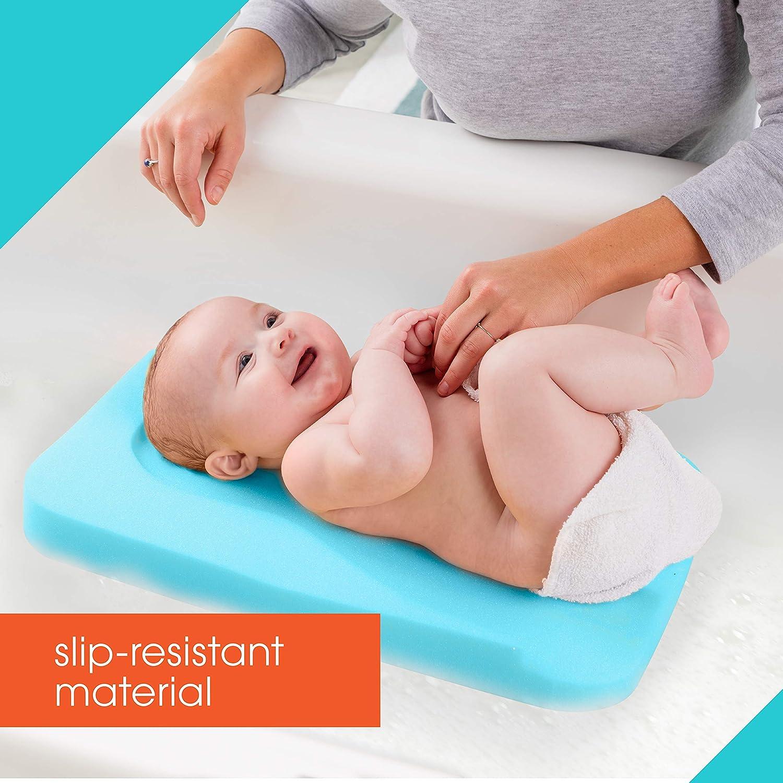 Summer Comfy Bath Sponge Aqua – Contoured Foam Cushion Supports Baby's  Head, Neck, and Back