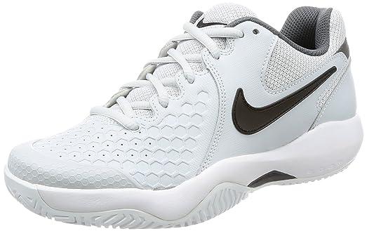 Nike Women's Air Zoom Resistance Tennis Shoes (7 B US, Platinum/Black/Dark Grey)