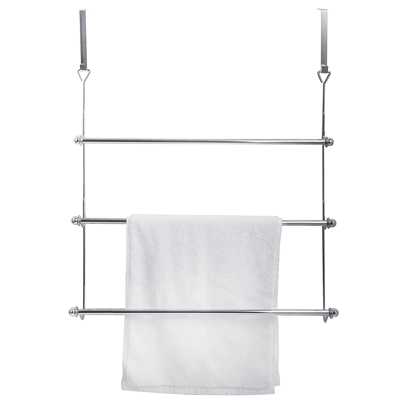 Amazon.com: Perchero para puerta 3 Tier Baño Toalla Bar Rack ...