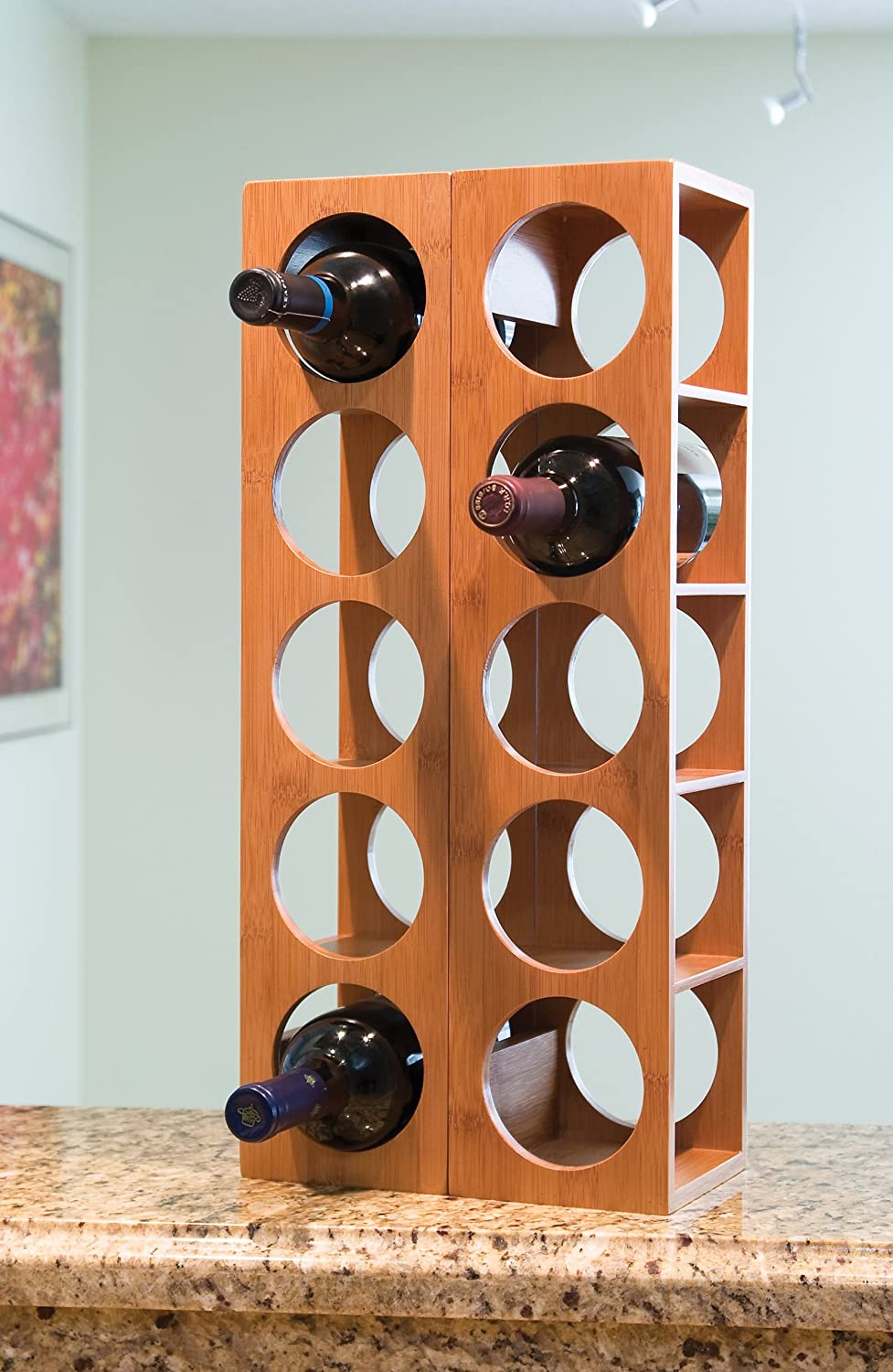view bottle rio wood glass amazon larger wine com dp rack hanger winsome