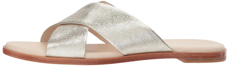 Cole Haan Women's Anica Criss Cross Slide Sandal B06Y6K7QTM 9 B(M) US|Silver Glitter