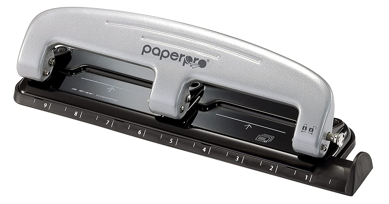 PaperPro inPRESS 12 Reduced Effort 3-Hole Punch, 12 Sheets, Blue (2103) Accentra Inc.