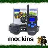Mockins 100% Waterproof Rechargeable Electronic Remote Dog Training Shock Collar with Beep and Vibration - E-Collar with 330 Yards ( 990 ft ) Distance