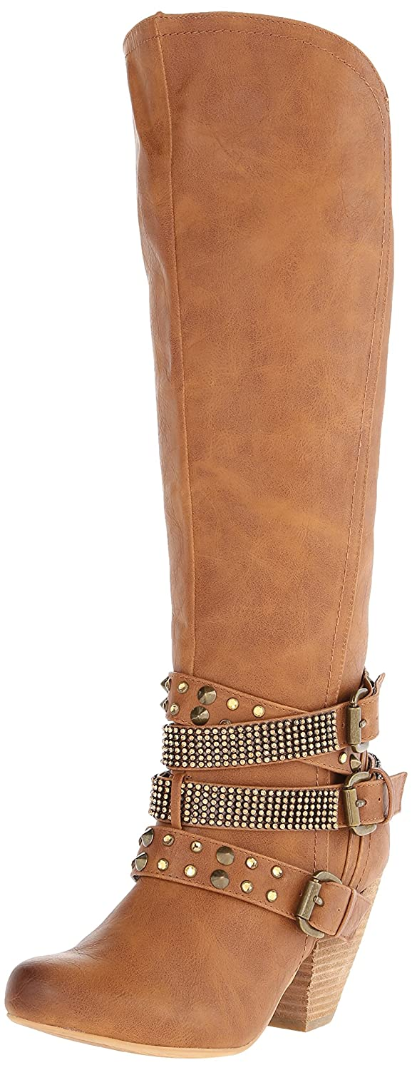 Not Rated Women's Cocktail Queen Riding Boot B00JH4GUAE 6 B(M) US|Tan
