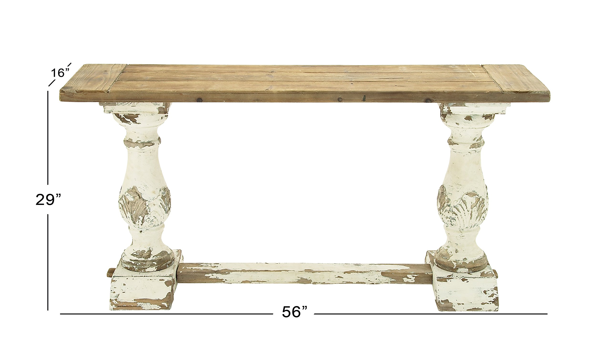 Deco 79 14840 Wood Console Table, 59'' x 29'' by Deco 79 (Image #4)
