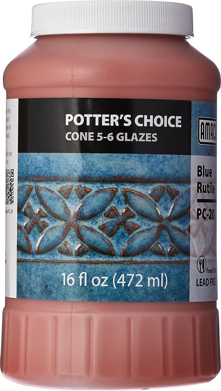 AMACO Potters Choice Glaze, Blue Rutile PC-20, 1 Pint - 35401D