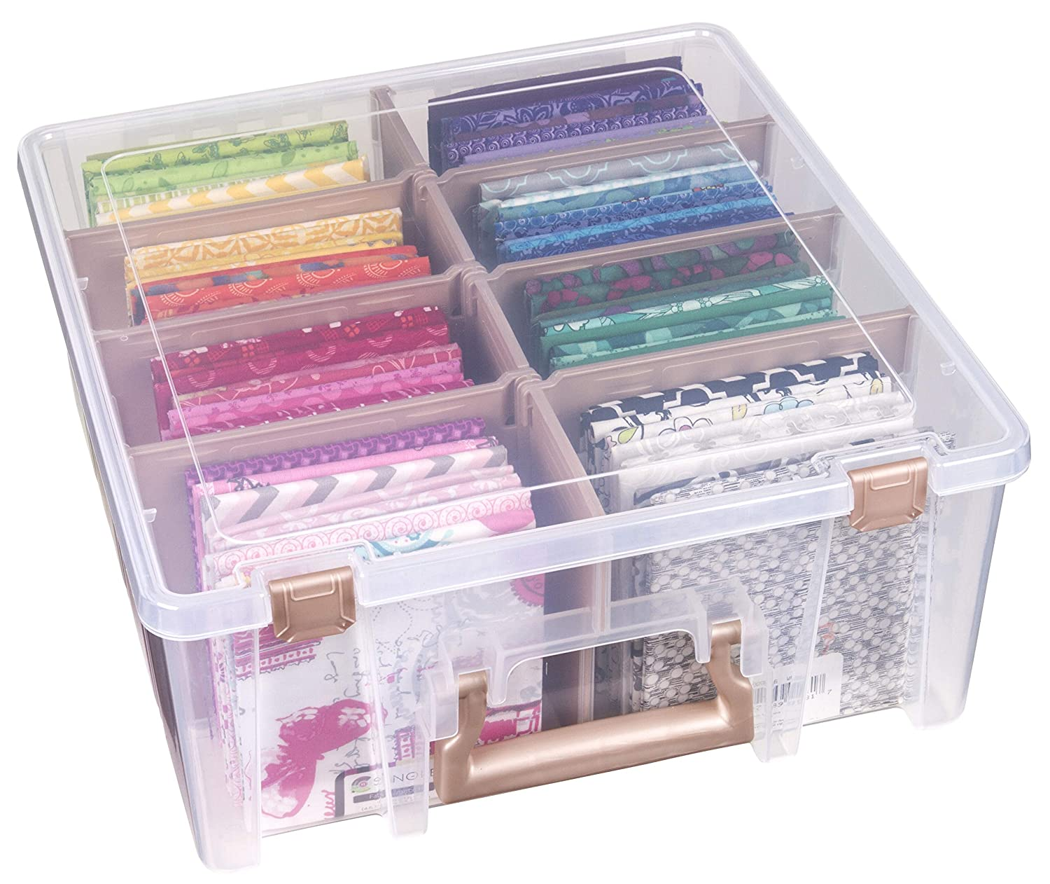 Clear Art and Craft Storage Container Box 6990ZZ 3 Pack ArtBin Super Satchel Double Deep with Removable Dividers