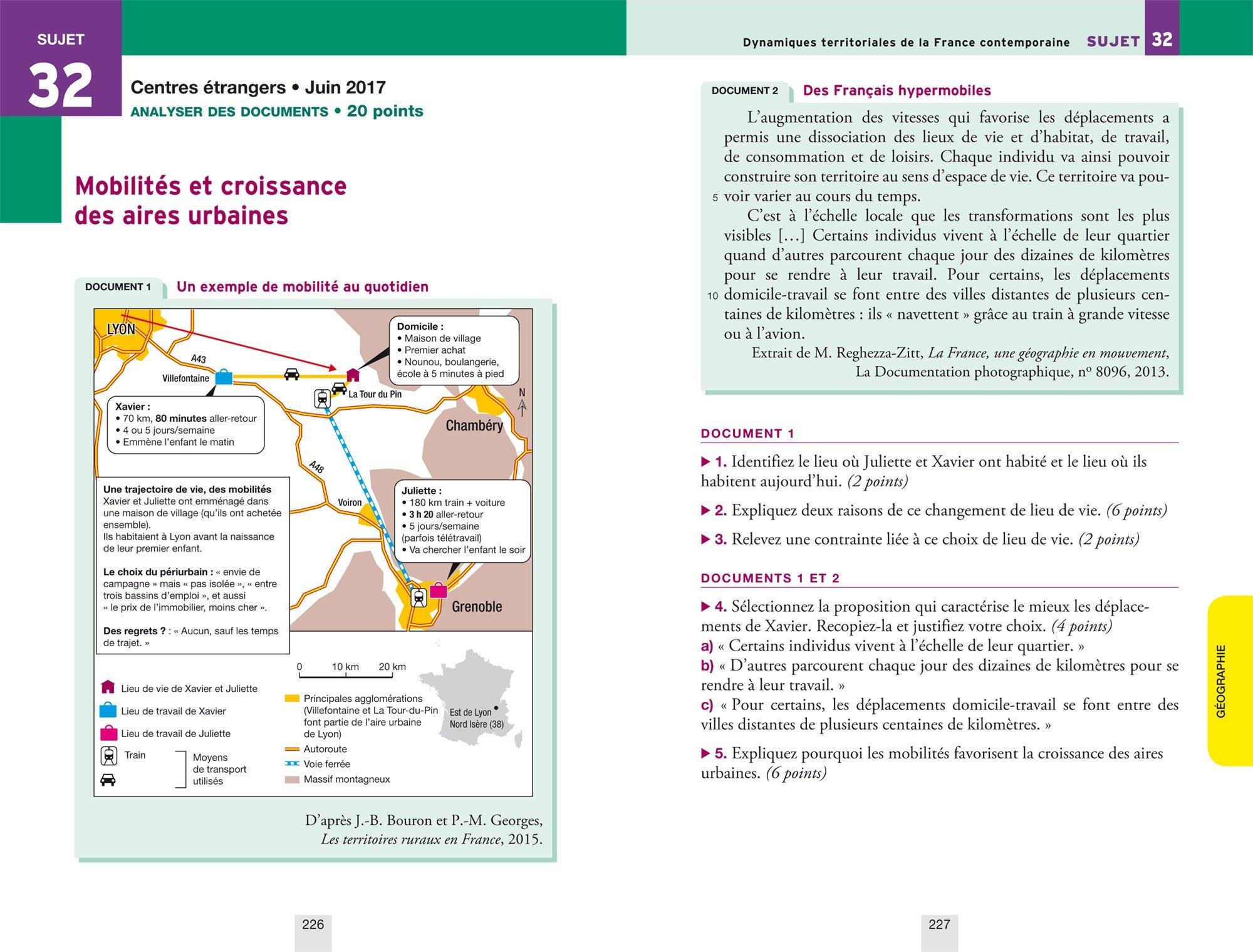 Lépreuve écrite 2 Français, Histoire, Géographie, EMC : Sujets et corrigés: Collectif: 9782401031746: Amazon.com: Books