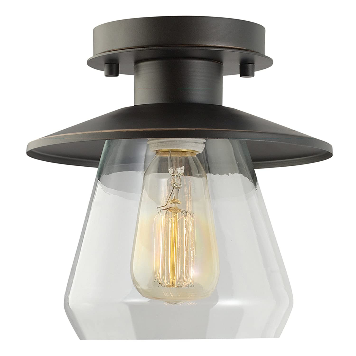 globe rubbed glass amazon light flush ceilings dp shade nate canada ceiling lights to semi oil finish mount clear electric close bronze