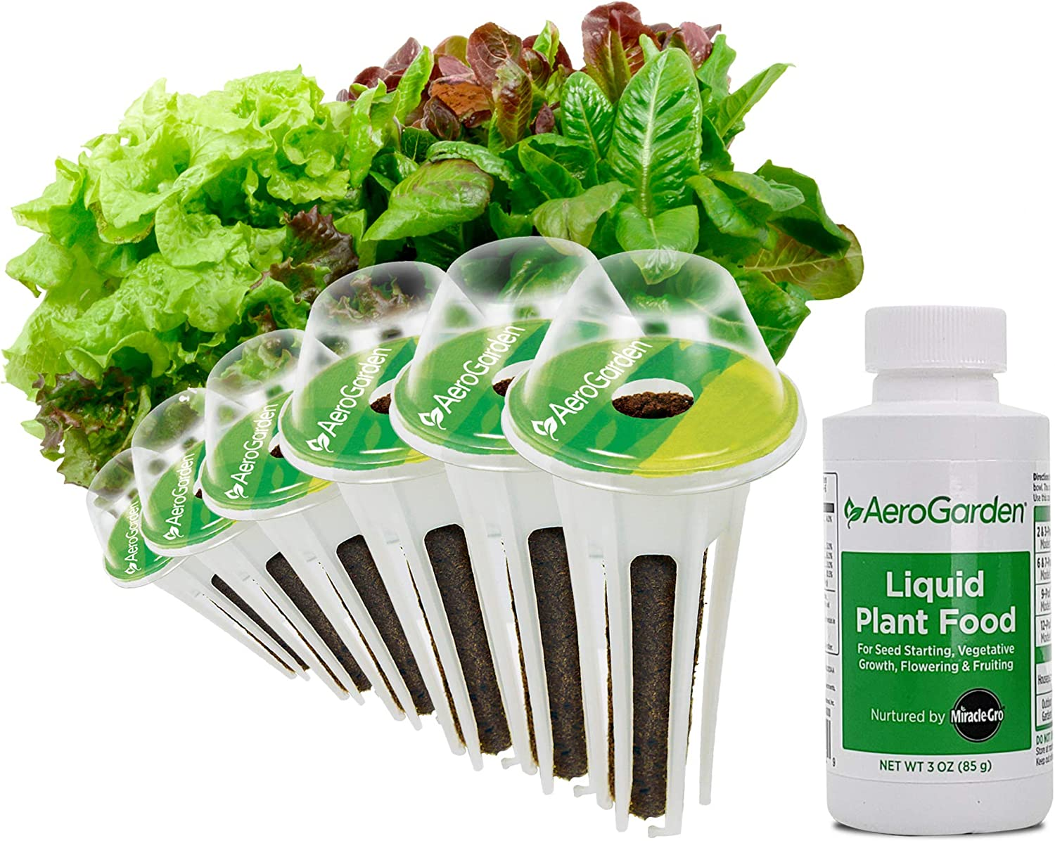 AeroGarden Heirloom Salad Greens Seed Pod Kit, 6