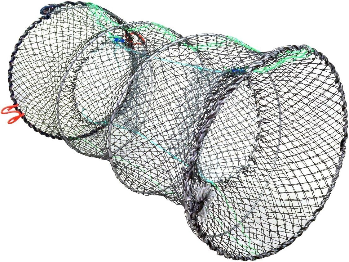 Jmkcoz 1PC Crab Trap Crawfish Lobster Shrimp Collapsible Cast Net Fishing Nets Black Portable Folded Fishing Accessories