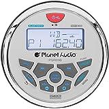 Planet Audio PGR35B Weatherproof Marine Gauge Receiver - Bluetooth, Digital Media MP3 Player, No CD Player, USB Port, AUX-In,