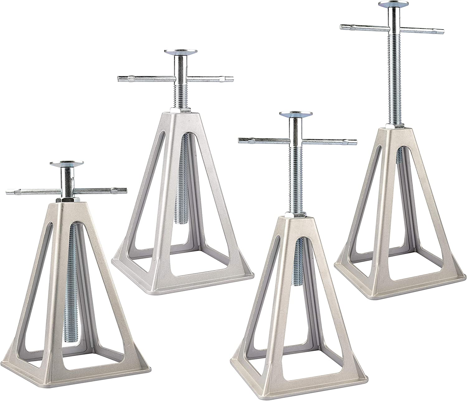 RVGUARD RV/Trailer Stabilizing Jacks 4 Packs, Adjustable from 11.5 inches to 17.5 inches
