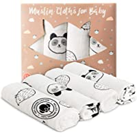 Organic Cotton Baby Nappies - Set van 4 Organic Cotton Baby Nappies 80x80 cm 100% Organic Cotton - Voor Meisje en Jongen…