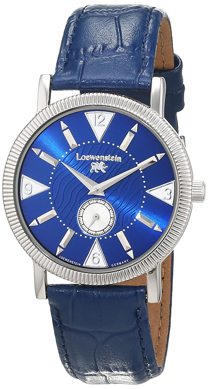 LÖwenstein Herren-Armbanduhr Analog Automatik Leder T23168-BL