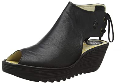 5c0b71b83fb2a FLY London Women's Yuzu800fly Wedge Sandal, Black Mousse, 36 M EU (5.5-