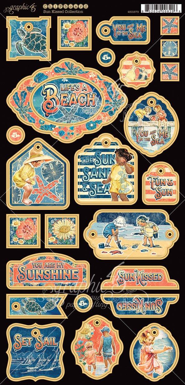 Paper Graphic 45 Sun Kissed Chipboard Multi-Colour 31.7 x 15.2 x 0.1 cm