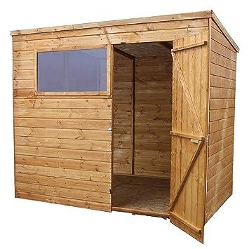 Waltons - Caseta de madera traslapada (2,44 x 1,83 m,