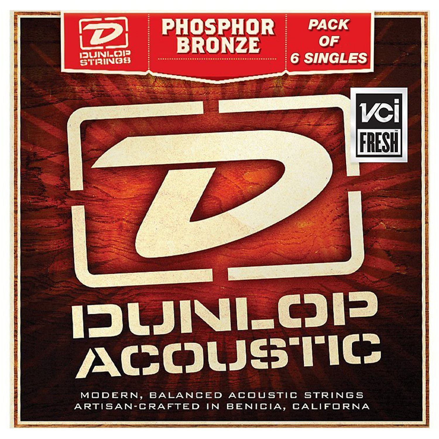 Performance Plus (by Dunlop) DAP47-6 Phosphor Bronze Acoustic Guitar .47 Gauge, Extra Light E String - Pack of 6 Single Strings Kay Guitar Company