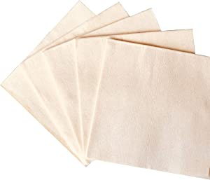 Bamboo Cocktail Napkins - 100% Bamboo Linen-Feel - Eco and Environment Friendly - 150 Pack Natural Fibers Perfect For Upscale Entertainment - 1/4 Fold - 5x5 (150)
