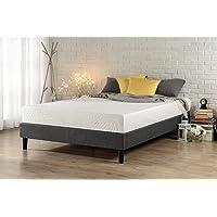 Zinus Curtis Essential Upholstered Platform Bed Frame/Mattress Foundation/Easy Assembly/Strong Wood Slat Support