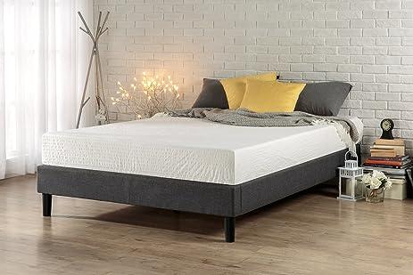 zinus essential upholstered platform bed frame mattress foundation no boxspring needed wood slat