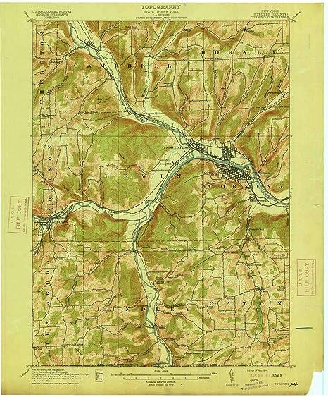 Amazon Com Yellowmaps Corning Ny Topo Map 1 62500 Scale 15 X 15