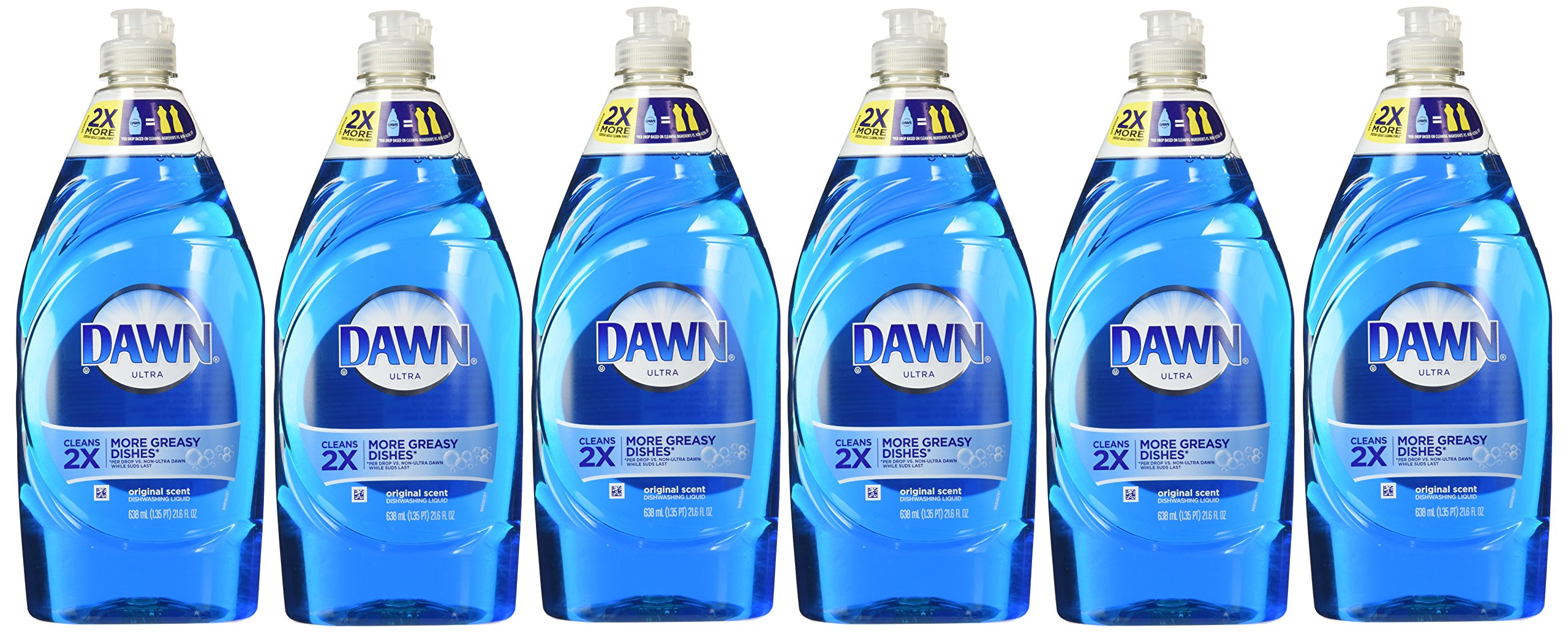 Dawn Ultra Original Scent Dishwashing Liquid 21.6 Fl Oz (6 Bottles)