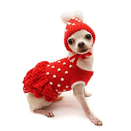 Amazoncom Tonimoz Polka Dot Red Dog Dress Red Dog Dress Pom Pom