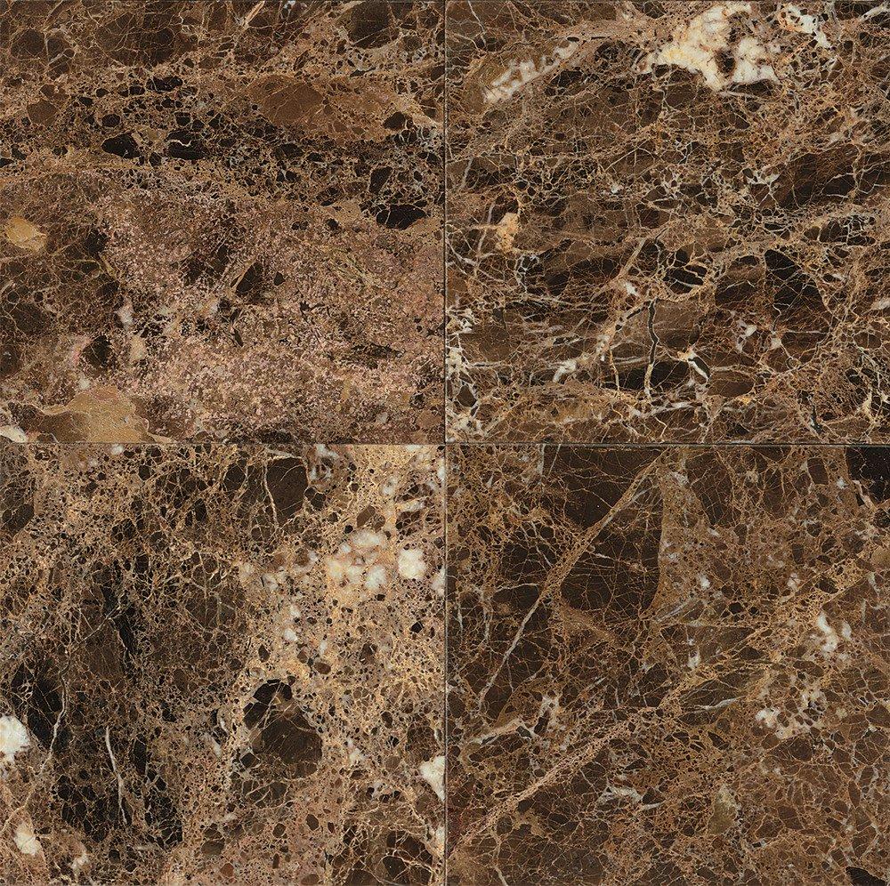 Bedrosians MRBEMPDRK2424P Polished Marble, 24'' x 24'' x 3/4'', Emperador Dark
